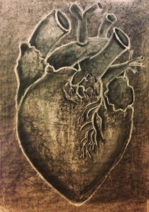 Heart. Charcoal and Rain