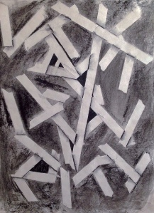 Layers. Charcoal and Masking tape. 18