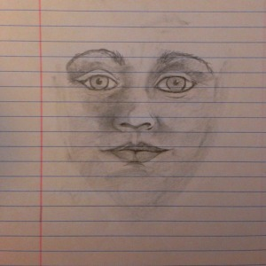 Face. Notepad and Graphite 9