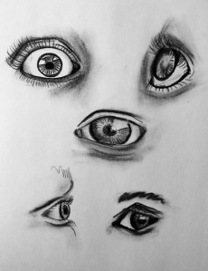 Eyes. Charcoal 9