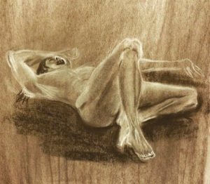Nude Man. Charcoal and willow 18