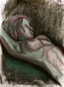Nude Woman. Charcoal and Chalk 18