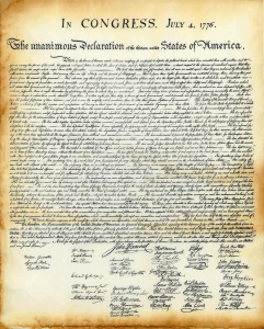 declaration of independence picture